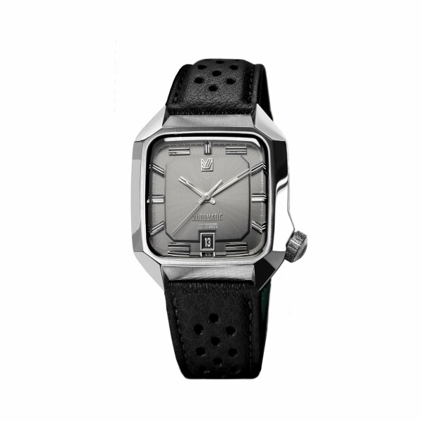 Montre March L.A.B AM2 Automatic - Gris - buffle black perforated