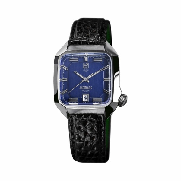 Montre March L.A.B AM2 Automatic - Ocea - Bracelet en alligator perforé noir