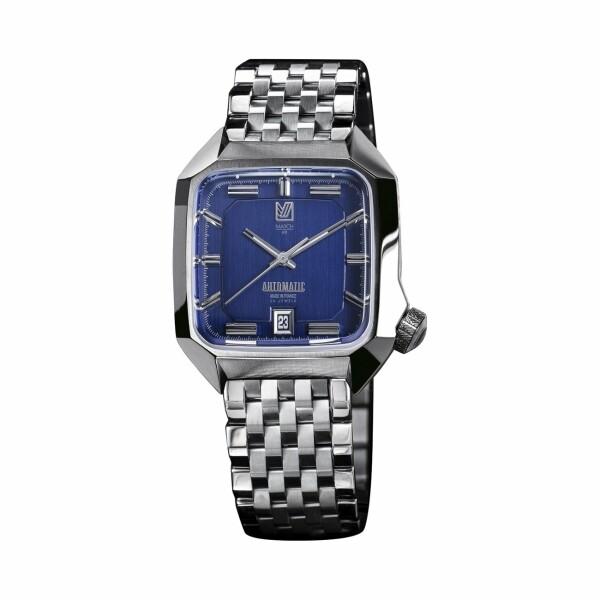 Montre March L.A.B AM2 Automatic - Ocean - Bracelet en acier 7 maillons