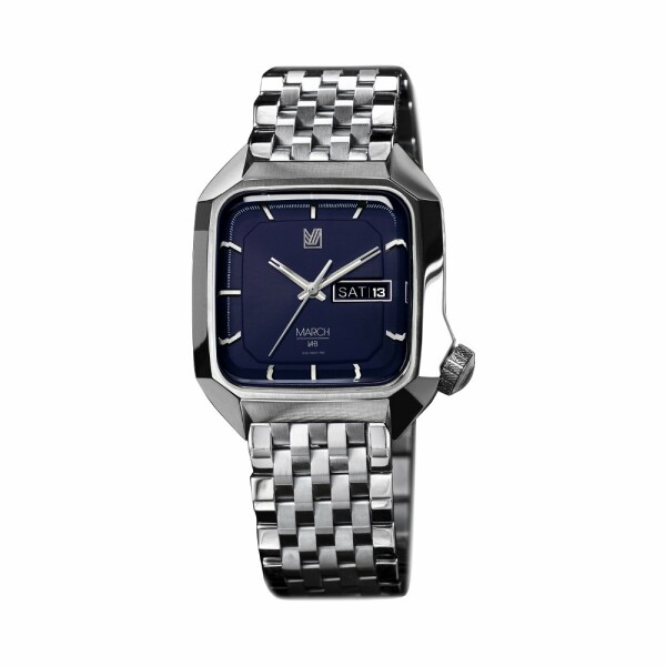Montre March L.A.B AM2 Electric - Navy - Bracelet en acier 7 maillons