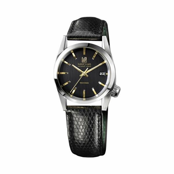 Montre March L.A.B AM69 Electric - Supreme - Bracelet en Lézard noir