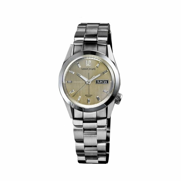 Montre March L.A.B AM89 Automatic - Magnum - Bracelet en acier 3 maillons