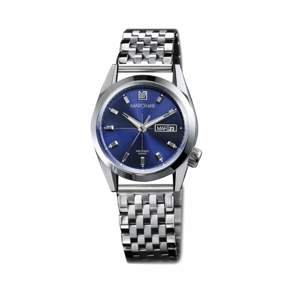 Montre March L.A.B AM89 Automatic - Ocean - Bracelet en acier 7 maillons