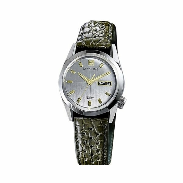 Montre March L.A.B AM89 Automatic - Private - Bracelet en alligator kaki