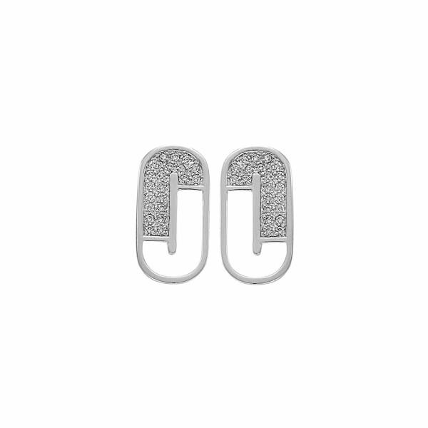 Boucles d'oreilles Jourdan Bijoux Julia en argent et oxyde de zirconium