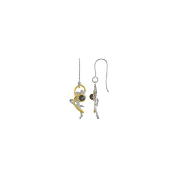 Boucles d'oreilles Jourdan Bijoux Volute en argent, plaqué or jaune