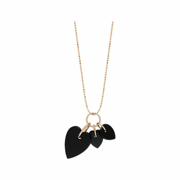 Collier GINETTE NY ANGELE en or blanc et onyx