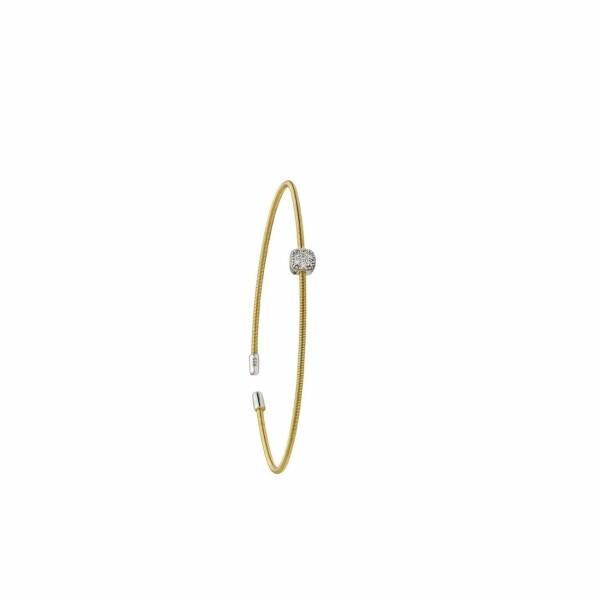 Bracelet Jourdan Bijoux Adagio en argent plaqué or jaune et oxyde de zirconium