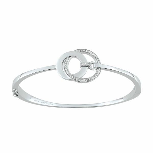 Bracelet Guy Laroche en argent et oxydes de zirconium
