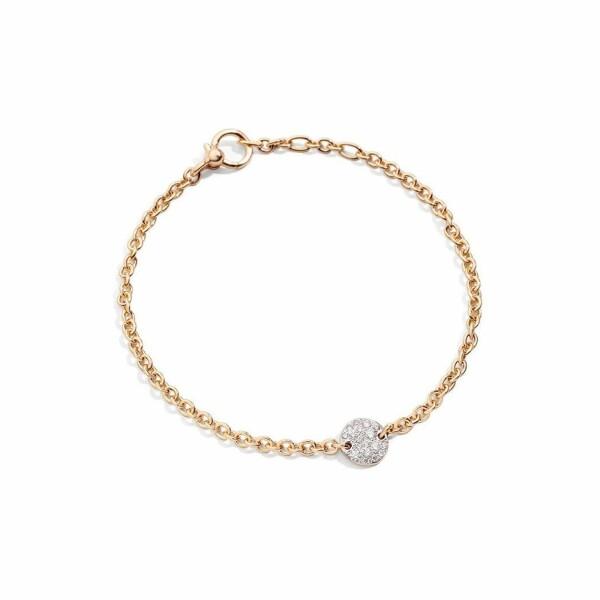 Bracelet Pomellato Sabbia en or rose et diamants, longueur 19.5cm