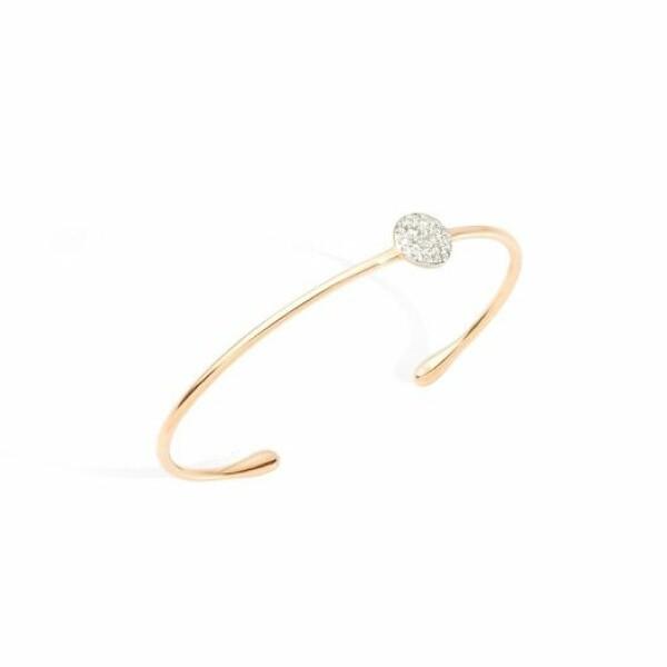 Bracelet jonc Pomellato Sabbia en Or rose et Diamant