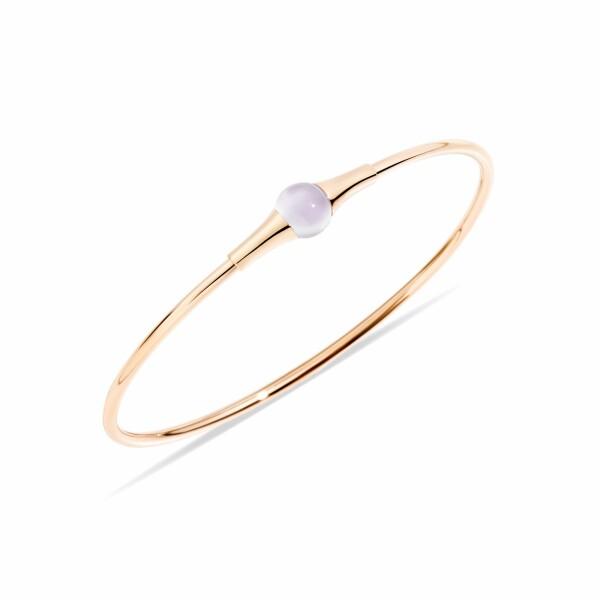 Bracelet Pomellato M'ama Non M'ama en or rose et pierre de lune