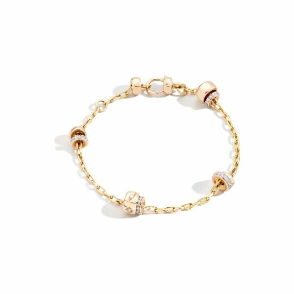 Bracelet Pomellato Iconica en or rose et diamants