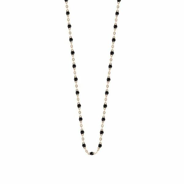 Collier Gigi Clozeau en or rose et résine noire, taille 50cm