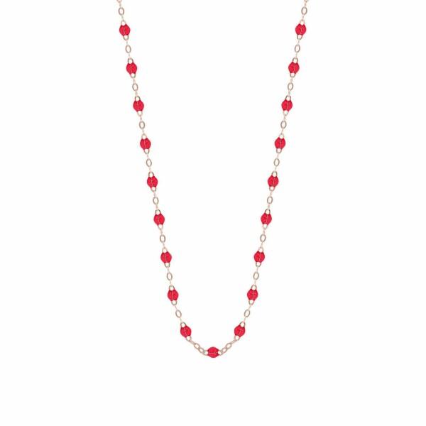 Collier Gigi Clozeau en or rose et résine rouge rubis, taille 42cm