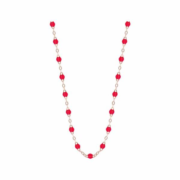 Collier Gigi Clozeau en or rose et résine rubis, taille 50cm