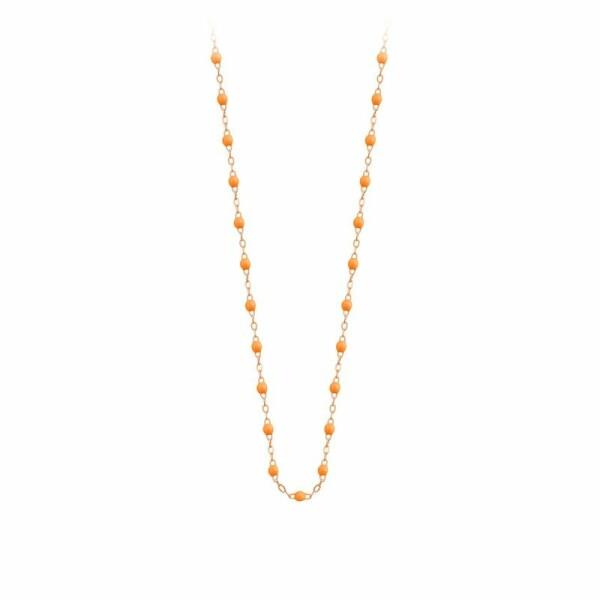 Collier Gigi Clozeau en or rose et résine mandarine, taille 42cm