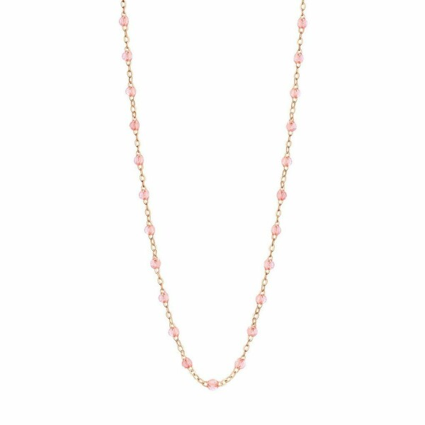 Collier Gigi Clozeau en or rose et résine rosée, taille 42cm
