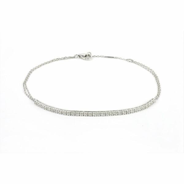 Bracelet en or blanc et diamants de 0.33ct