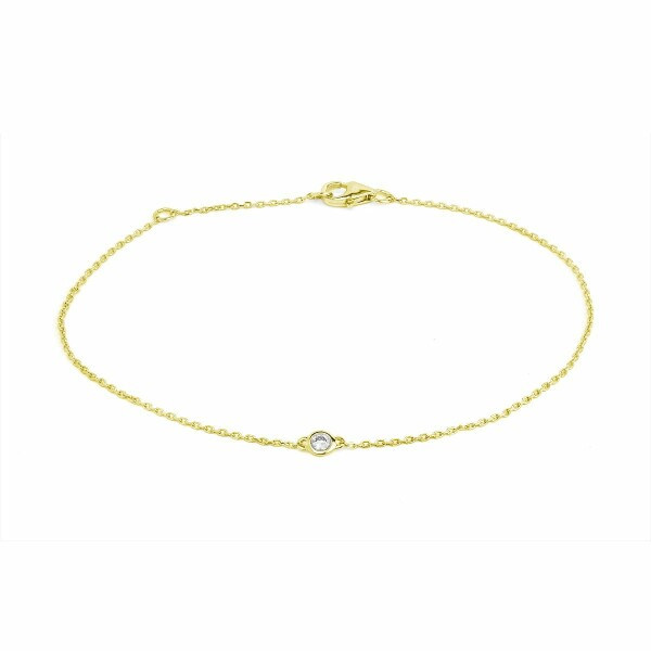 Bracelet en or jaune et diamants de 0.04ct