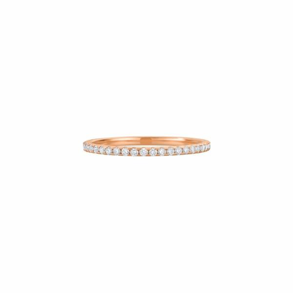 Alliance tour complet XS diamants taille brillant en or rose