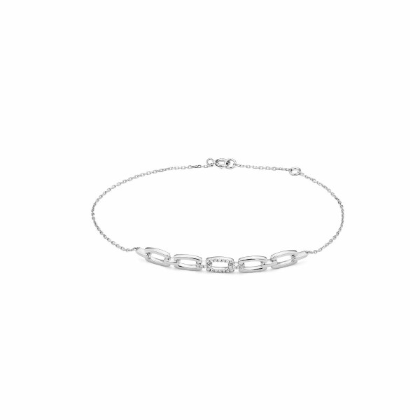Bracelet en or blanc et diamants de 0.06ct