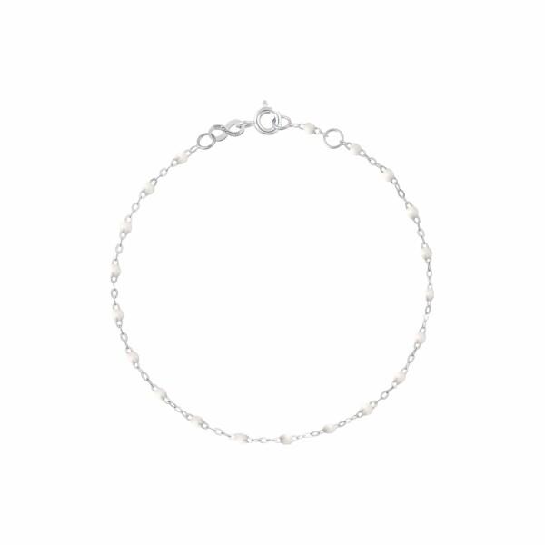 Bracelet Gigi Clozeau en or blanc et résine blanche, 17cm