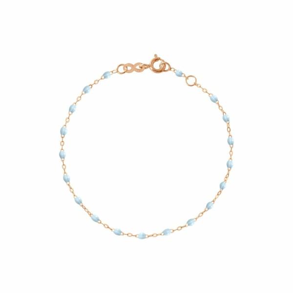 Bracelet Gigi Clozeau en or rose et résine bleu layette, 17cm