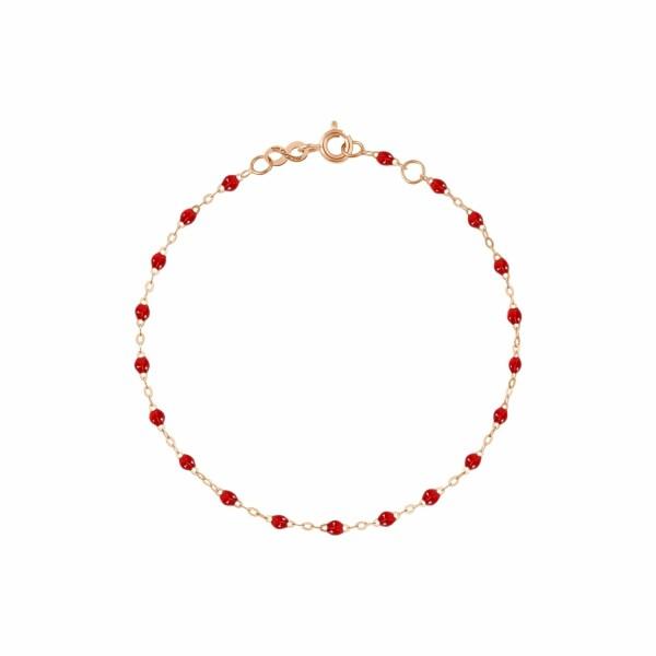 Bracelet Gigi Clozeau en or rose et résine rouge rubis, taille 17cm