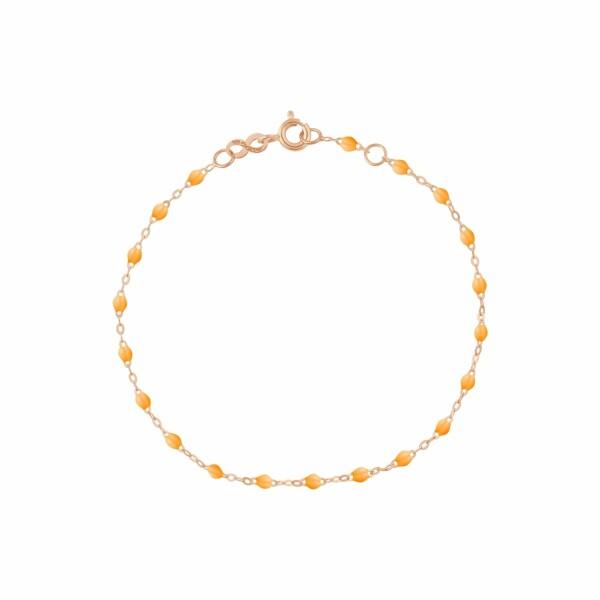 Bracelet Gigi Clozeau en or rose et résine mandarine, 17cm