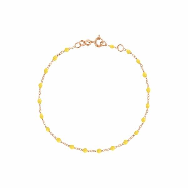 Bracelet Gigi Clozeau en or rose, résine citron, taille 17cm