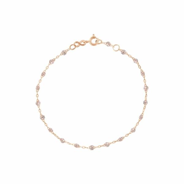 Bracelet Gigi Clozeau en or rose et résine diamant, 17cm