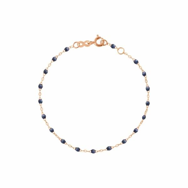 Bracelet Gigi Clozeau en or rose et résine bleu nuit, taille 17cm