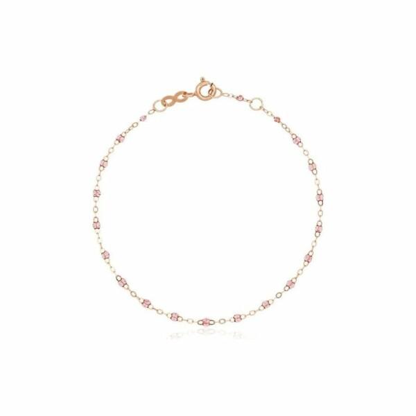 Bracelet Gigi Clozeau en or rose et résine rosée, 17cm