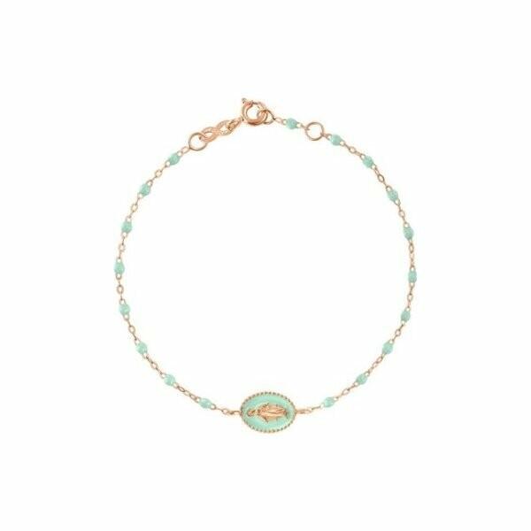 Bracelet Gigi Clozeau Madonne en or rose et résine jade, taille 17cm