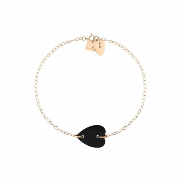 Bracelet GINETTE NY ANGELE en or blanc et onyx