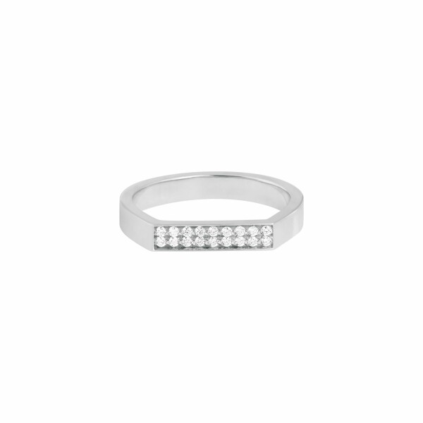 Bague Vanrycke Bonnie & Clyde en or blanc et 18 diamants
