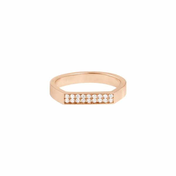 Bague Vanrycke Bonnie & Clyde en or rose et 18 diamants