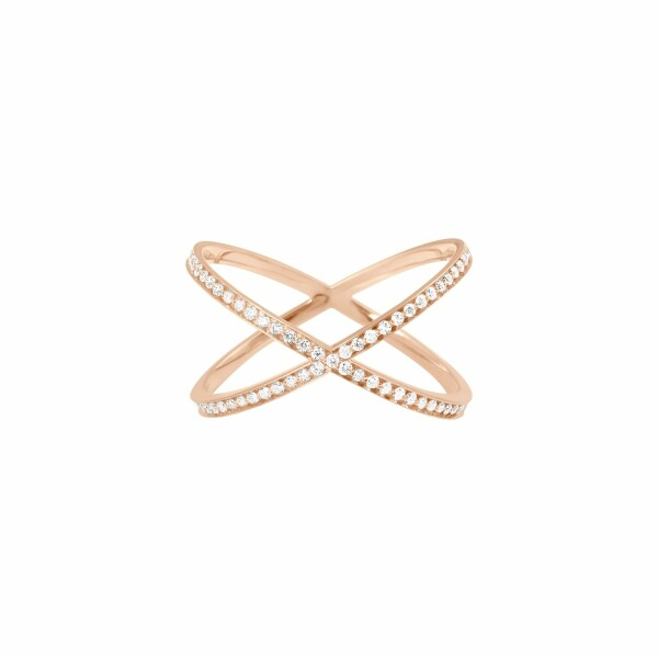 Bague Vanrycke Coachella en or rose et diamants