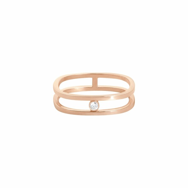 Bague Vanrycke Charlie Double en or rose et diamant