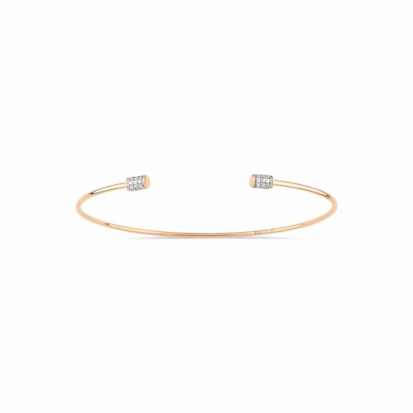Bracelet GINETTE NY CHOKER en or rose et diamant