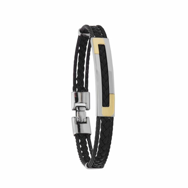 Bracelet Jourdan Bijoux Sauvage en acier, cuir
