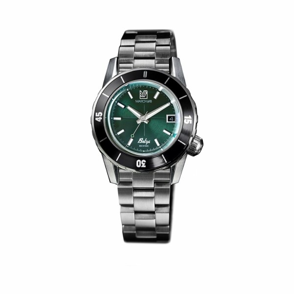 Montre March L.A.B Belza Automatic - Forest - Bracelet en acier 3 maillons