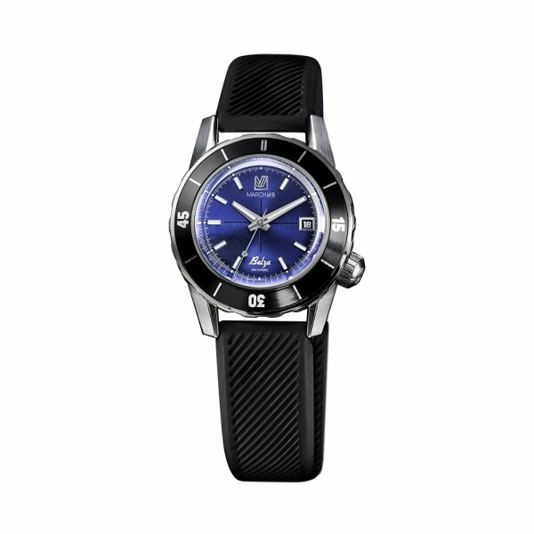 Montre March L.A.B Belza Automatic - Ocean - Bracelet silicone