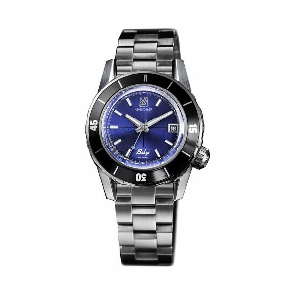 Montre March L.A.B Belza Automatic - Ocean - Bracelet en acier 3 maillons