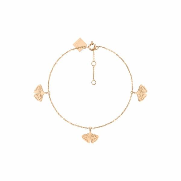 Bracelet GINETTE NY GINGKO en or rose