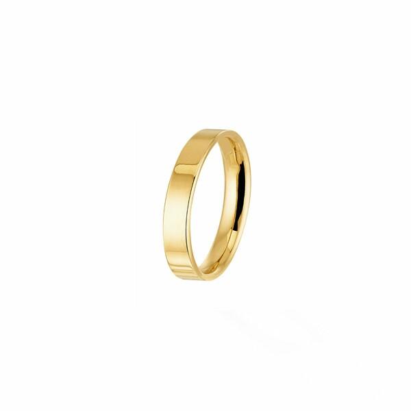 Alliance Bonheur parisien en or jaune, 4.5mm