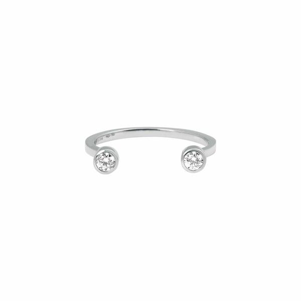 Bague Vanrycke Mademoiselle Else en or blanc et 2 diamants