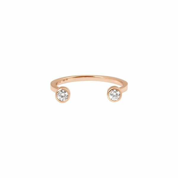 Bague Vanrycke Mademoiselle Else en or rose et 2 diamants