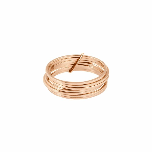 Bague Vanrycke Margherita 7 anneaux en or rose